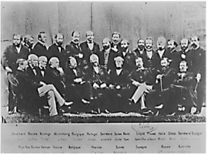 Founding meeting of the ITU in 1865