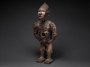 Power Figure (Nkisi N'Kondi: Mangaaka), 19th century Kongo peoples; Yombe group,  Wood, paint, metal, resin, ceramic; H. 46 1/2 in. (118 cm), W. 19 1/2 in. (49.5 cm), D. 15 1/2 in. (39.4 cm) The Metropolitan Museum of Art, New York, Purchase, Lila Acheson Wallace, Drs. Daniel and Marian Malcolm, Laura G. and James J. Ross, Jeffrey B. Soref, The Robert T. Wall Family, Dr. and Mrs. Sidney G. Clyman, and Steven Kossak Gifts, 2008 (2008.30) http://www.metmuseum.org/Collections/search-the-collections/320053